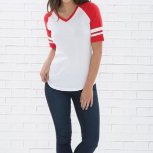 RING SPUN BASEBALL LADIES' TEE Thumbnail