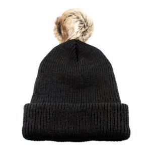 Toque with Faux fur pom Thumbnail