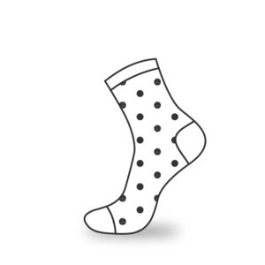 Polka Dot Dress Socks Thumbnail