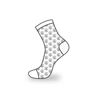 Repeated Logo Dress Socks Thumbnail